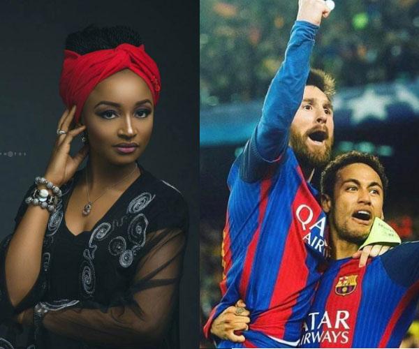 Rahama Sadau Na Son Neymar da Messi  - AREWA News
