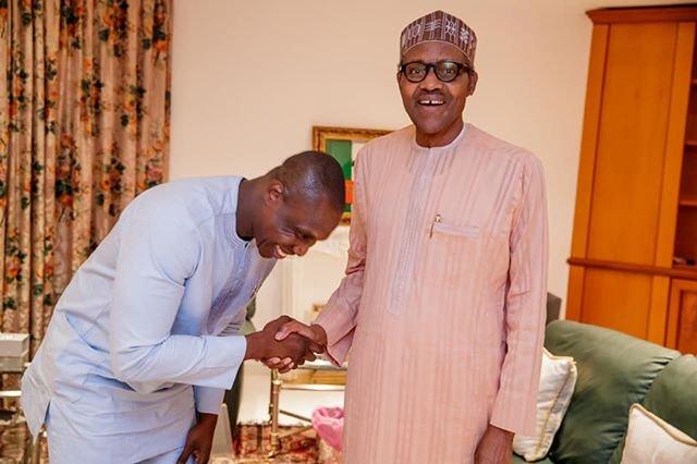 Buhari ya gana da dan Obasanjo