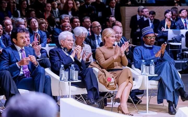 Hoto:Shugaban kasa Buhari a wurin taron zaman lafiya da ake a birnin Paris